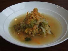 レンズ豆を入れた野菜スープ の作り方・レシピ