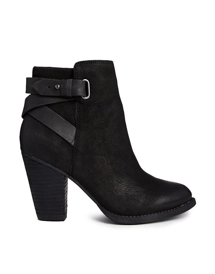 ALDO | ALDO Salazie Leather Heeled Ankle Boots at ASOS