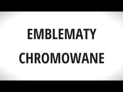 Emblematy chromowane METALIC