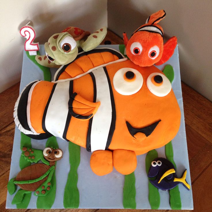 Best Disney Finding Nemo Birthday Ideas Cake Decors - Nemo fish birthday cake