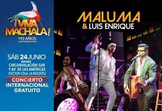 Concierto de Maluma y Luis Enrique en Machala (2017) Foros Ecuador