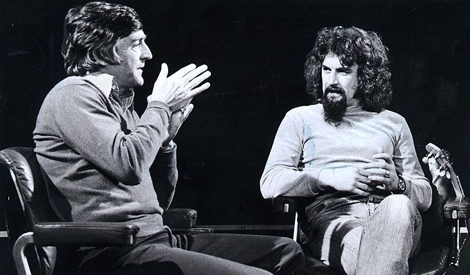 Michael Parkinson celebrity interview show (here with Billy Connolly, 1977)  Two of my favorites on-screen celebs