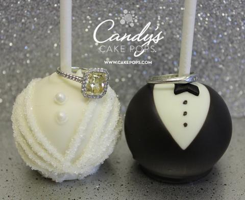 Schöne Braut und Bräutigam Cake Pops perfekt für jede Hochzeit. Diese Kuchen po …   – Wedding ideas