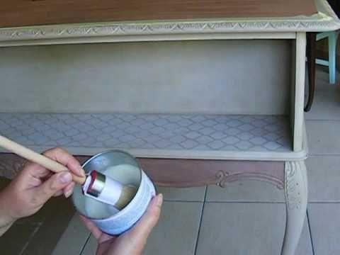 Metamorfoza biurka - 3. Ozdabianie i postarzanie woskiem brązowym