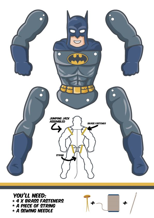 batman jumping jack template