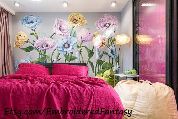 Linen Duvet Natural Bedding Linen bedspread Shabby Chic