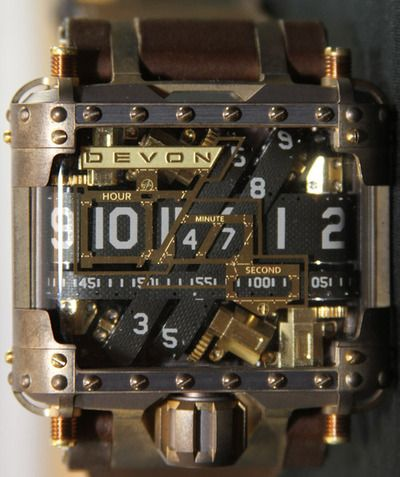 Devon Tread 1 Steampunk Watch Review -Interesting belt-driven time telling system. More pictures along with the review.