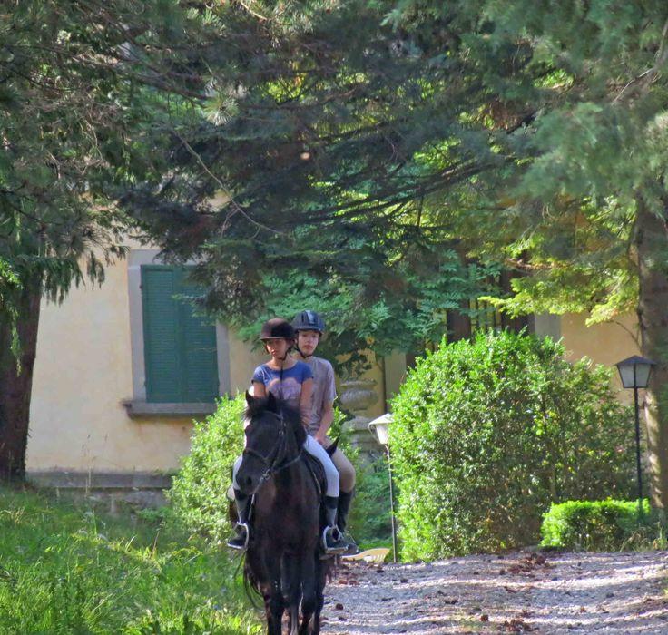 Nel bellissimo parco di Villa Borsari