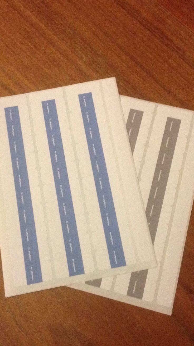 Mes planches d'étiquettes index