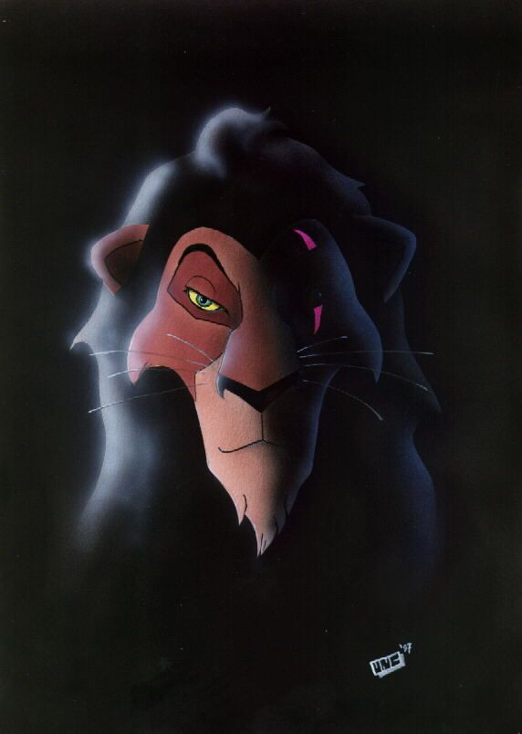 30 Day Disney Challenge- Day 8: Favorite Villain? Scar. He killed his own brother, tried to kill Simba, and  turned the pride lands to shit.  He may be evil but he's a good villain.