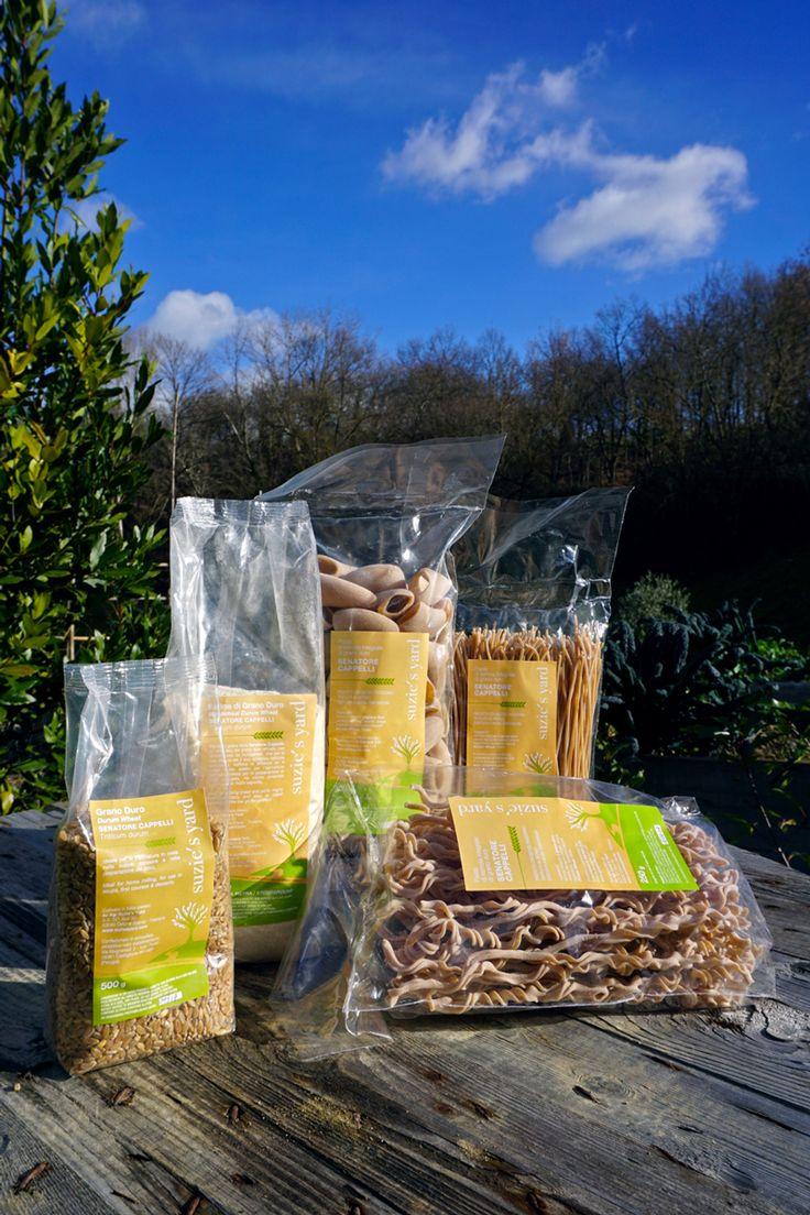 Prodotti BIO Suzie's Yard a base di farina di grano duro Senatore Cappelli…