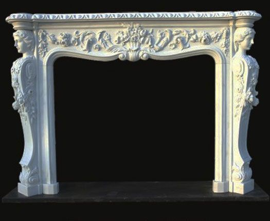 Antique french country fireplace mantels for sale   Model 23 Marble Mantels Victorian Antique