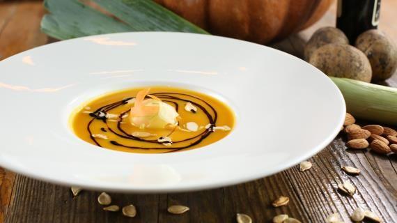 Крем-суп из тыквы, пошаговый рецепт с фото