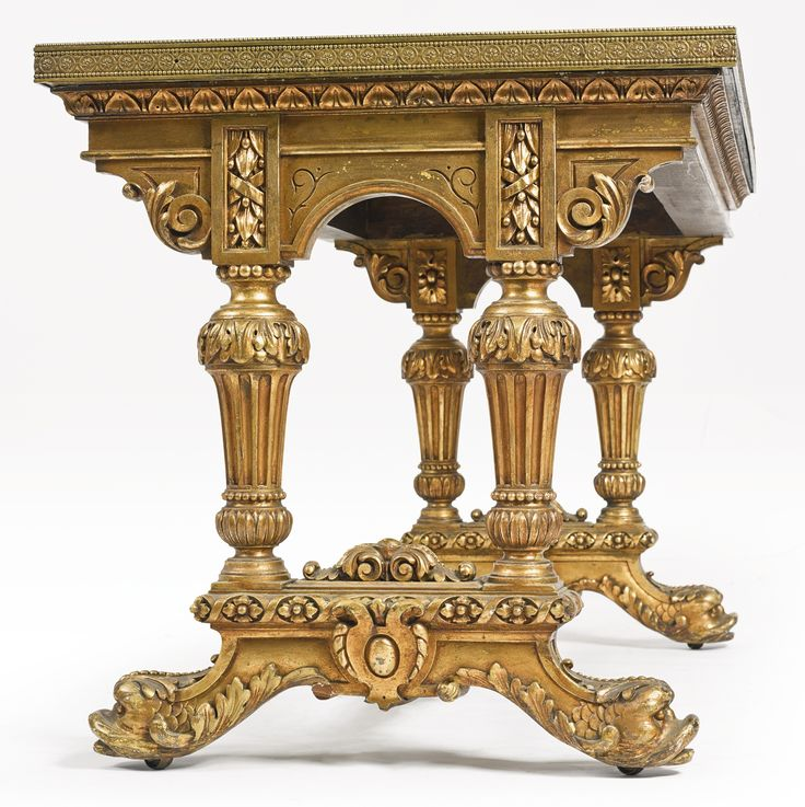 Attributed to Giacomo Raffaelli Italian, 1753-1836 An important and rare Roman micromosaic table top Italy, circa 1805-25 fitted on a later Napoléon III carved gilt wood base