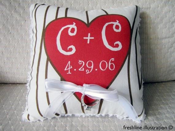 $38 Tree Heart Ring Pillow #wedding