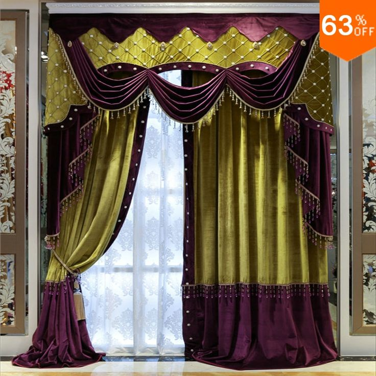 find more curtains information about white beads purple with green patchwork curtains for hotel hall curtain
