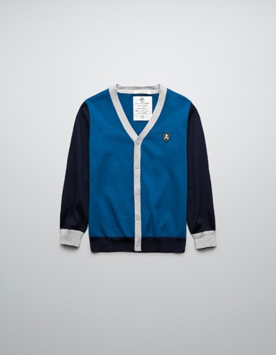 CARDIGAN WITH ELBOW PATCHES - Cardigans and sweaters - Boy (2-14 years) - Kids - ZARA United States