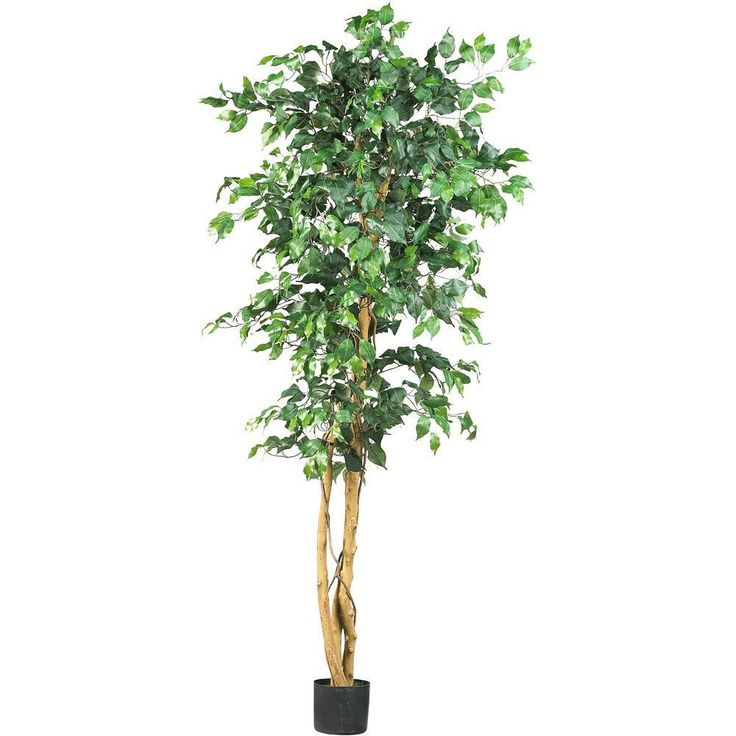 Artificial tree plant home office decor silk ficus indoor for Artificial plants indoor decoration