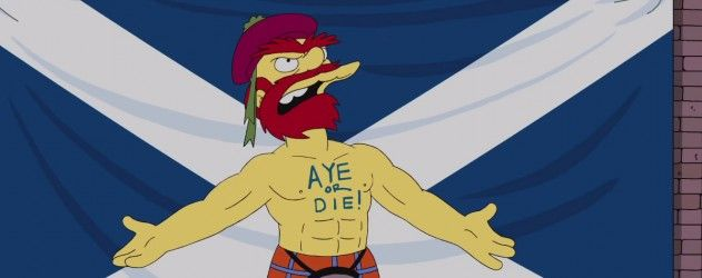 Willie Le Jardinier des Simpson, se prononce sur l'indépendance de l'Ecosse #LesSimpson