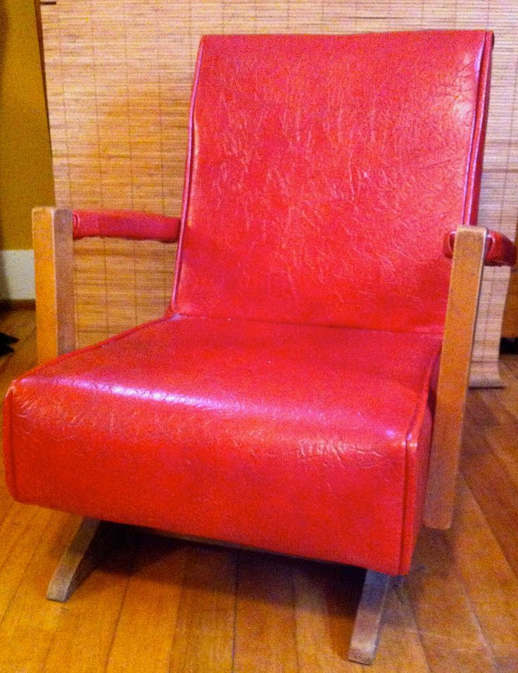 Century Kids Rocker - Vinyl Upholstered - Vintage Childrens Furniture ...