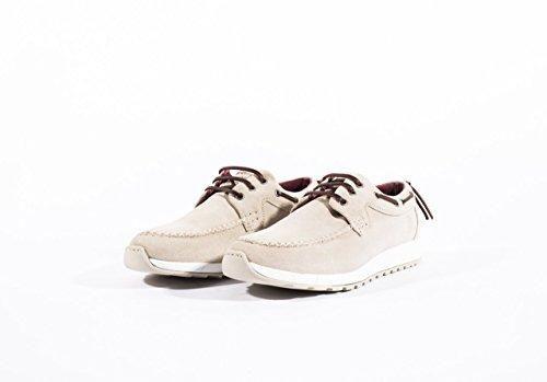 Oferta: 59.95€ Dto: -50%. Comprar Ofertas de Mondrian - Zapato/Zapatilla Casual O Informal Estilo Naútico De Piel Serraje Con Cordones - Hombre, Color Crema, Talla 42 barato. ¡Mira las ofertas!