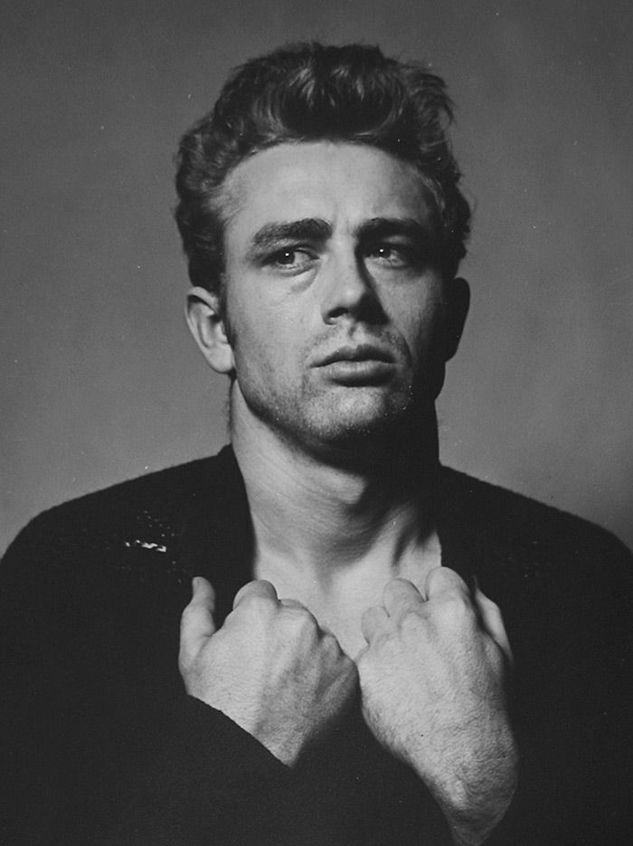 "James Dean ""Torn Sweater"" Series photograph 1954 (printed later), gelatin silver print, signed 20 x 16 inches, © Photo Roy Schatt CMG / Courtesy Westwood Gallery NYC"