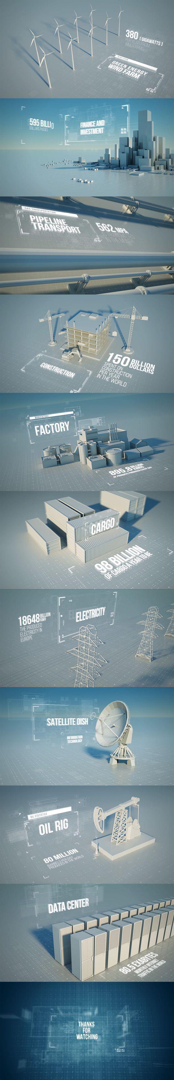 Coole Optik um wahrscheinlich langweilige Zahlen zu präsentieren. ^^ → Mehr #Design #Grafikdesign #Infografik #Rendering #Ideen & #Inspiration auf pins.dermichael.net ▶▶:
