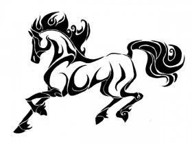 tribal horse tattoo