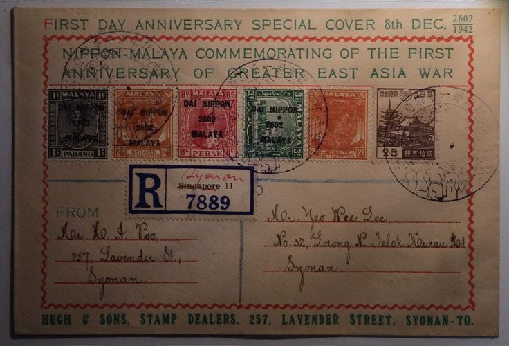 Japanese Occupation Of Singapore Cover in World War II took place from 1943 To 1945.