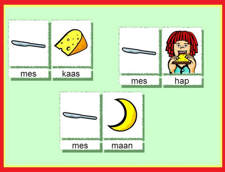Zoek dezelfde beginletters voor kinderen op kleuteridee.nl