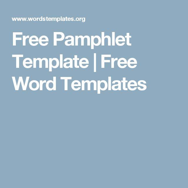 Více než 25 nejlepších nápadů na Pinterestu na téma Pamphlet template - free pamphlet templates microsoft word