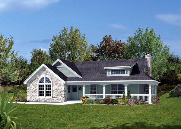 Bungalow country ranch house plan 87806 house plans for Ranch bungalow plans