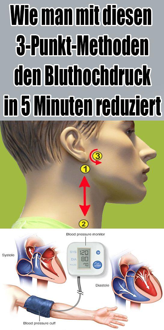 Wie man mit diesen 3-Punkt-Methoden den Bluthochdruck in 5 Minuten reduziert
