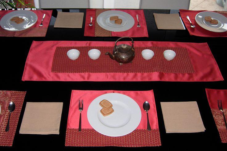 Set da tavola: tovagliette americane e centrotavola by Emanuela Terraneo