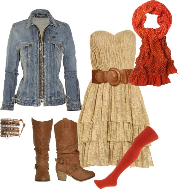 """Denim and Lace"" by gardengrandmaw on Polyvore"