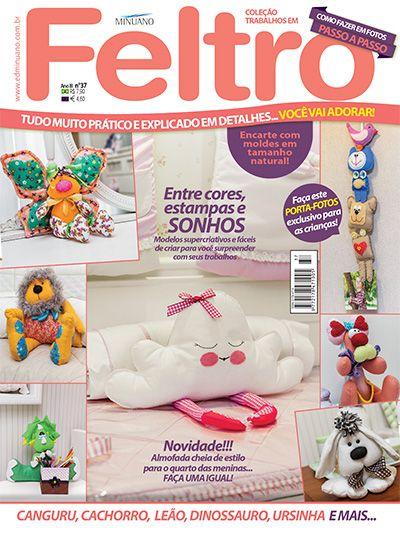 Editora Minuano - Artesanato - Feltro : COL TRABALHOS EM FELTRO 037