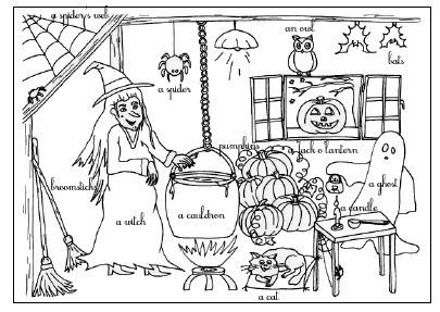 30 Coloriage Magique Halloween Maternelle Facile (With images) | Halloween backgrounds, Coloring ...
