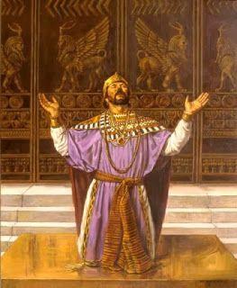 Daily Devotions:   2 Chrons 6 :13-14 Solomonknelt in front of the e...