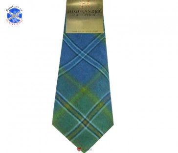 All Ireland Blue Tartan Soft Pure Wool, Mens Tie £24.99