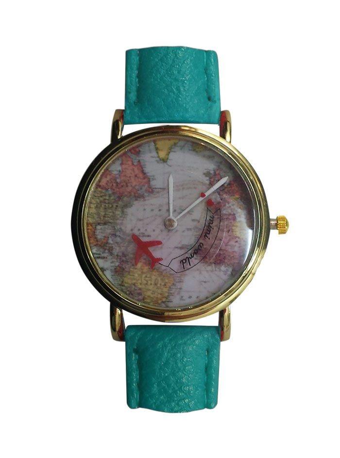 Haritalı Dönen Uçaklı Saat - The End MC10280914244