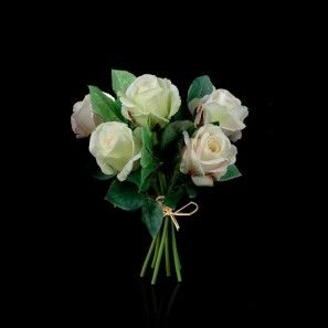 Bouquet de rose artificielle blanche Caroline
