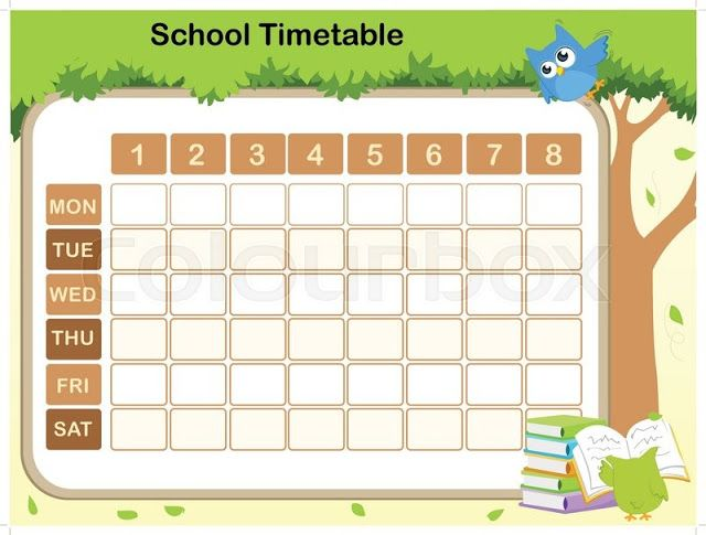 free school timetable template teachers