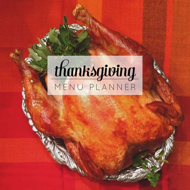 Free Download: Thanksgiving Menu Planner // Feast + West