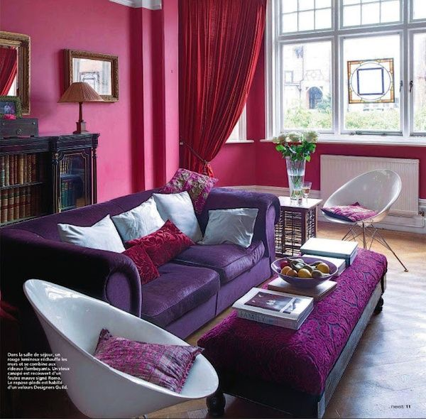 : Decor, Purple Room, Living Rooms, Shades Of Purple, Dreams, Room Colors, Pink Room, Red Room, Jewels Tone
