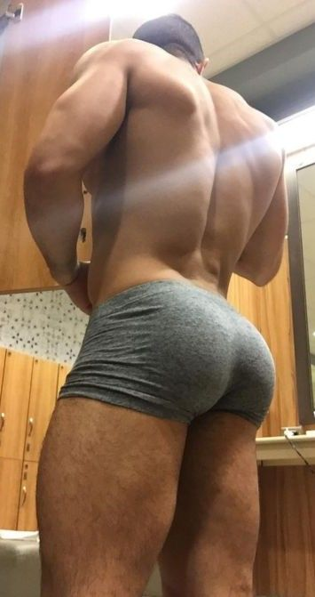 men booty black Naked