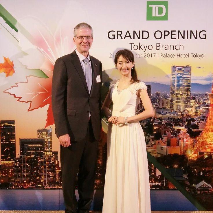 With Mr. Ian Burney Ambassador of Canada to Japan at TD Securities' Grand Opening Reception in Tokyoトロントドミニオン日本証券株式会社様の東京オフィスのオープ二ングレセプションでイアンバーニー駐日カナダ大使とご挨拶とても気さくな方でスピーチでは仏語でも挨拶されていてカナディアーン TDの皆様おめでとうございました . #バイリンガルMC #バイリンガル女子 #ミセスグローブ日本代表 #ミセスクイーン #野口美穂 #TD #bilingualmcjp #Miho #MrsJapanGlobe #MrsQUEEEN #englishspeakingmc #eventhost #japan #maitressedeceremoniejaponaise #パレスホテル東京