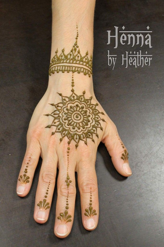Simple Mehndi Mandala : Mandala henna design by heather pinterest