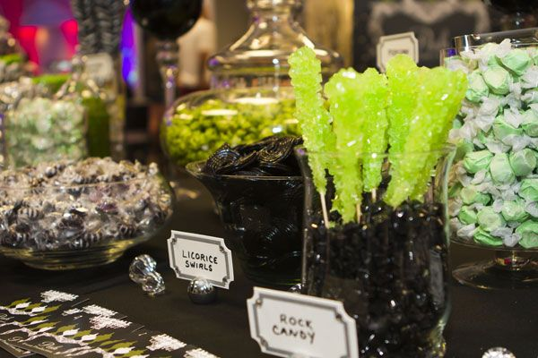 lime green and black candy buffet | Posh Event Productions | Candy Buffets Rentals Party Planning Omaha ...