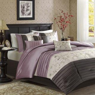 shop for madison park belle purple comforter set get free shipping at