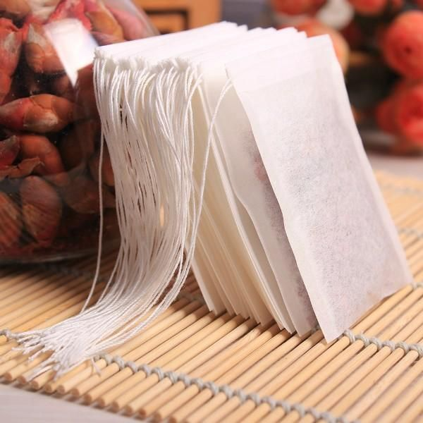 New Teabags 100Pcs/Lot 5.5 x 7CM Empty Tea Bags With String Heal Seal Filter Paper for Herb Loose Tea  #Gifts #theoldjunktrunk #fashion #vintage